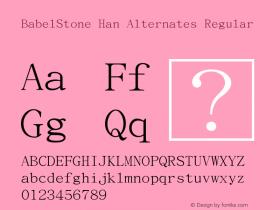 BabelStone Han Alternates