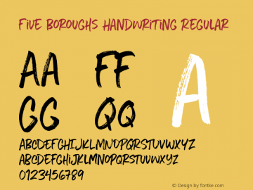 Five Boroughs Handwriting