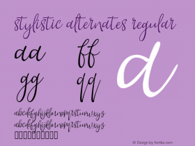 Stylistic Alternates