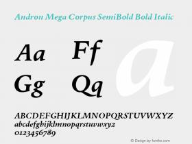 Andron Mega Corpus SemiBold
