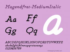 Magendfret-MediumItalic