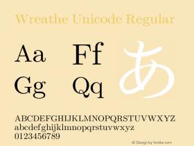 Wreathe Unicode