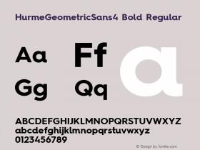 HurmeGeometricSans4 Bold