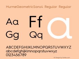 HurmeGeometricSans4 Regular