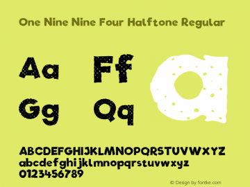 One Nine Nine Four Halftone