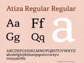 Atiza Regular