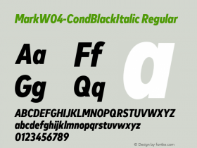 Mark-CondBlackItalic
