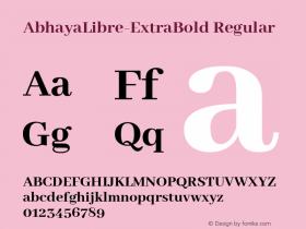 AbhayaLibre-ExtraBold