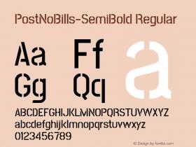 PostNoBills-SemiBold