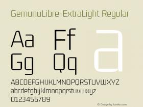 GemunuLibre-ExtraLight
