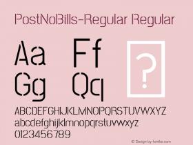 PostNoBills-Regular