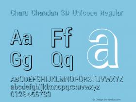 Charu Chandan 3D Unicode