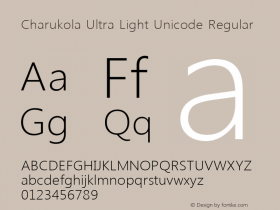 Charukola Ultra Light Unicode