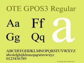 OTE GPOS3