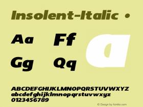 Insolent-Italic