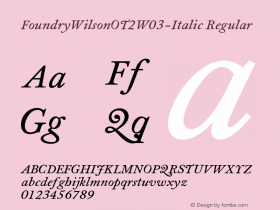 FoundryWilsonOT2-Italic