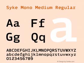 Syke Mono Medium