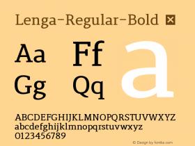 Lenga-Regular-Bold