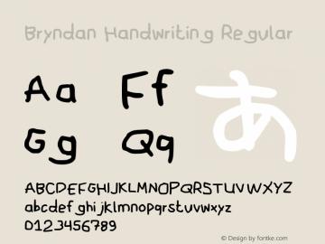 Bryndan Handwriting