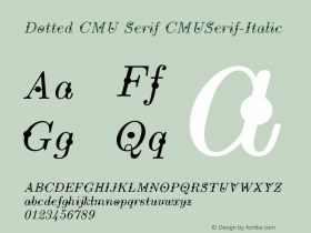 Dotted CMU Serif