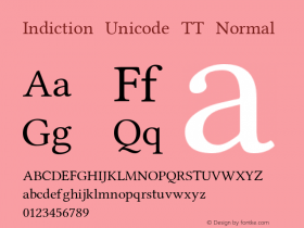 Indiction Unicode TT