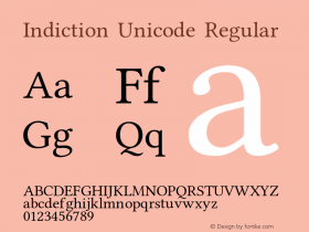 Indiction Unicode