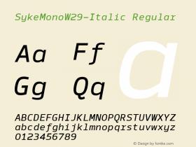 SykeMono-Italic