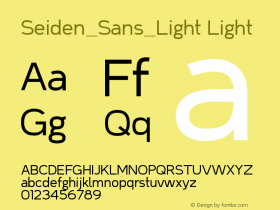 Seiden_Sans_Light