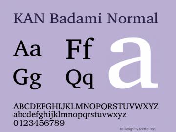 KAN Badami