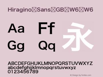 Hiragino Sans GB W6