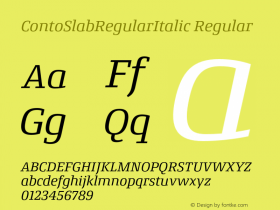 ContoSlabRegularItalic