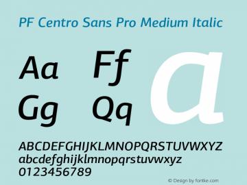 PF Centro Sans Pro Medium