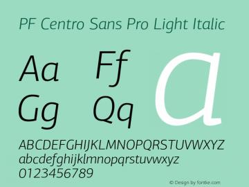 PF Centro Sans Pro Light