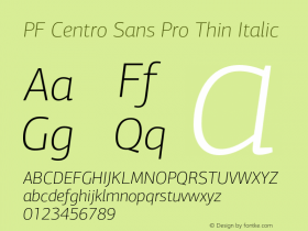 PF Centro Sans Pro Thin