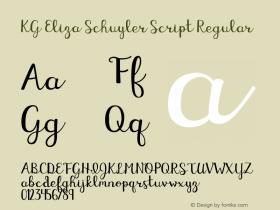 KG Eliza Schuyler Script