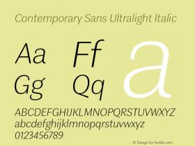 Contemporary Sans