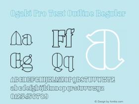 Ogaki Pro Text Outline