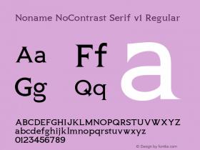 Noname NoContrast Serif