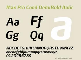Max Pro Cond DemiBold