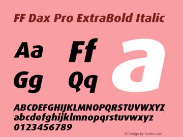 FF Dax Pro ExtraBold