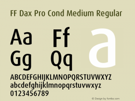 FF Dax Pro Cond Medium