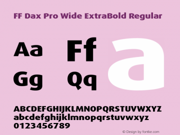 FF Dax Pro Wide ExtraBold