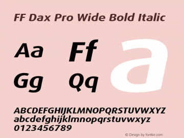 FF Dax Pro Wide