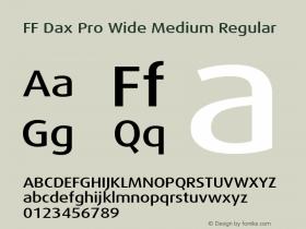 FF Dax Pro Wide Medium