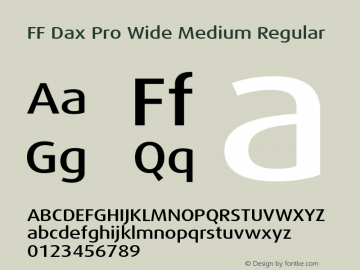 FF Dax Pro Wide Medium