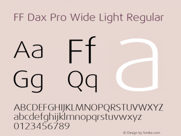 FF Dax Pro Wide Light