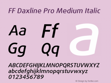 FF Daxline Pro Medium