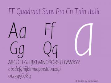FF Quadraat Sans Pro Cn Thin