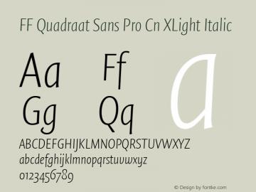 FF Quadraat Sans Pro Cn XLight