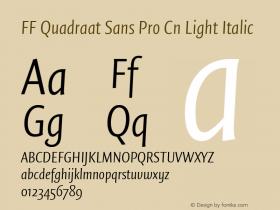FF Quadraat Sans Pro Cn Light